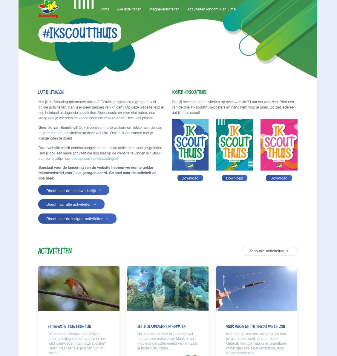 Nieuwe website #IkScoutThuis